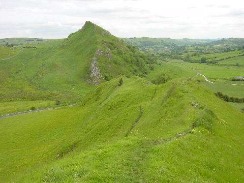 Chrome Hill looking towards Parkhouse Hill