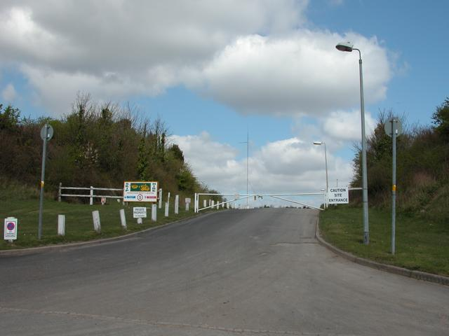Entrance to the remains of Farlington Redoubt
