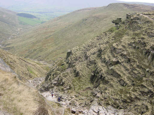 Crowden Clough, Kinder Plateau