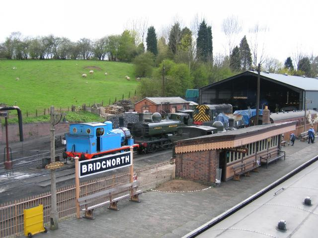 Bridgnorth engine shed on the Severn Valley Railway
