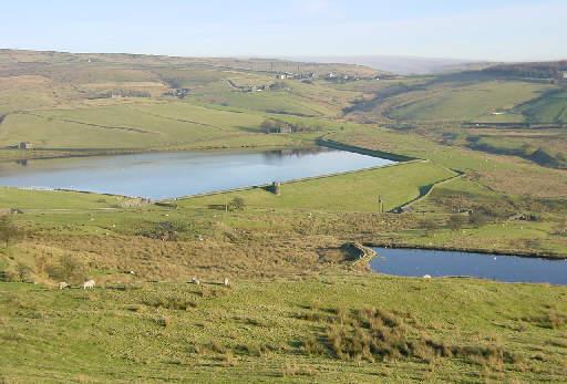 Castleshaw Lower Reservoir near Delph