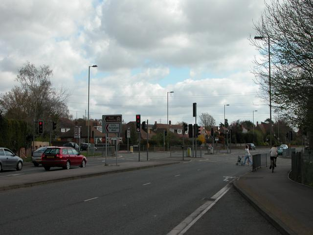 Junction of A27 at Downend, Fareham