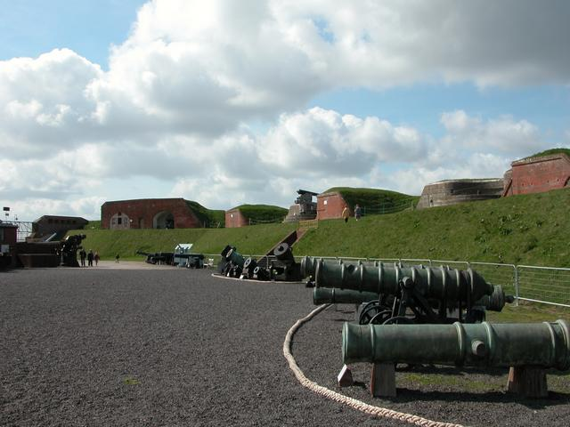 The Parade Ground inside Fort Nelson