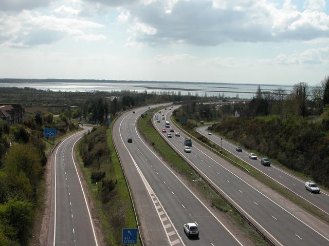The A3(M) M27 interchange, Farlington