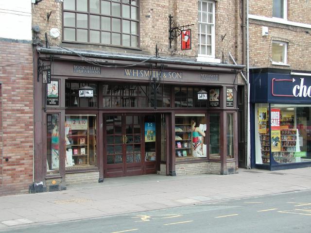 Preserved shop front, Newtown/Y Drenewydd.