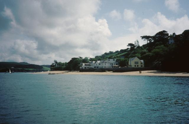 Small's Cove and the landing stage for the ferry to Salcombe