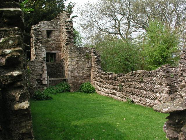 The ruined Saxon church at Edvin Loach