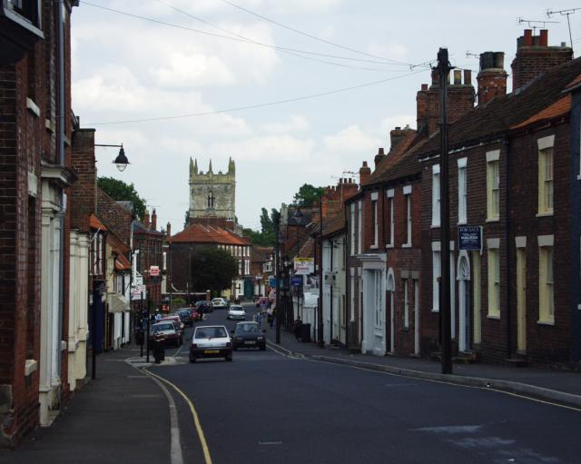 View SE down High St. of Barton on Humber