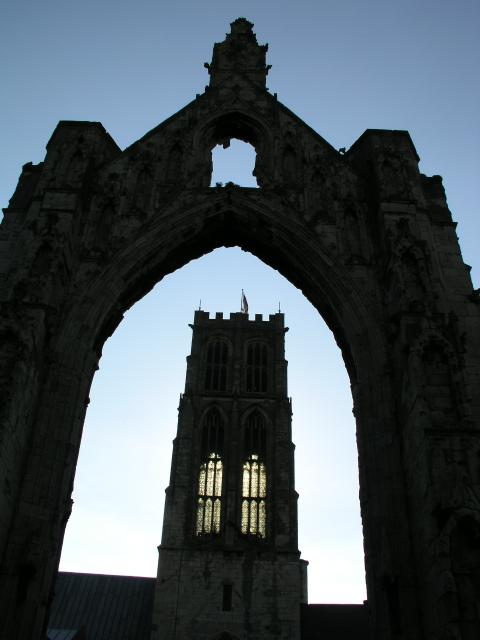 Howden Minster Tower at Sunset