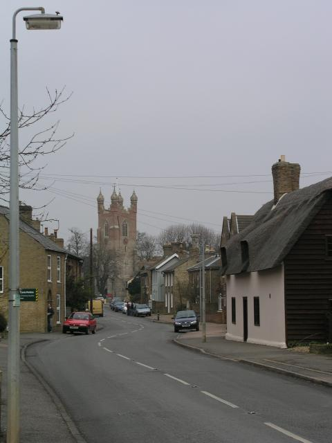 Cottenham, the High St looking NNE