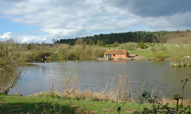 Fishing Pond & the Greensand Ridge.