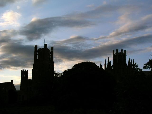 Ely Cathedral from the foot of Back Hill