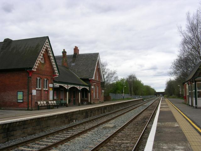 Glazebrook Station, looking west.