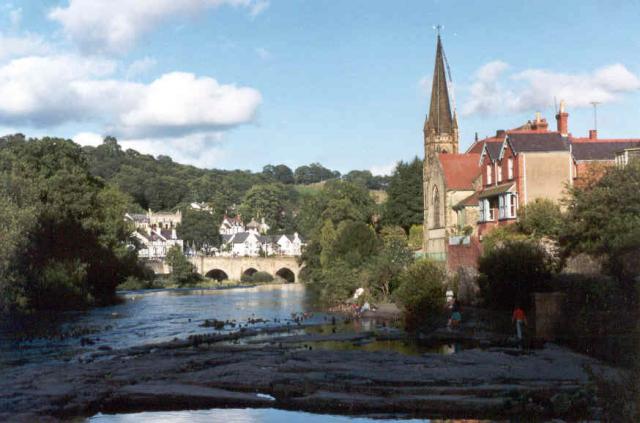 River Dee and church, Llangollen