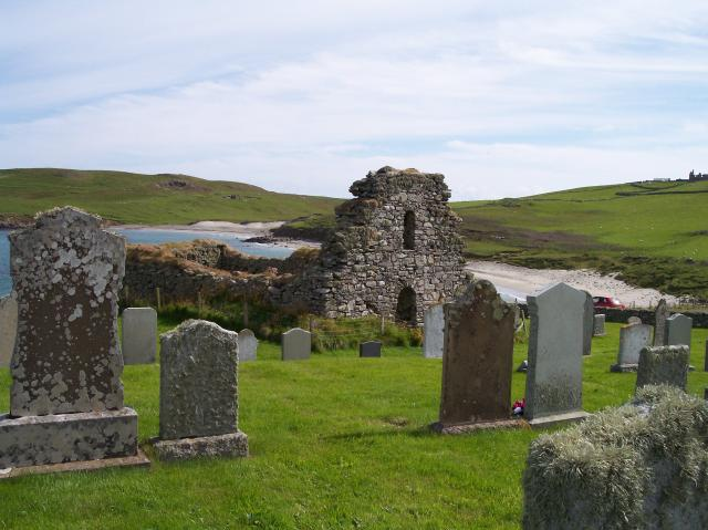 Remains of St Olaf's Church, Lunda Wick, Unst, Shetland