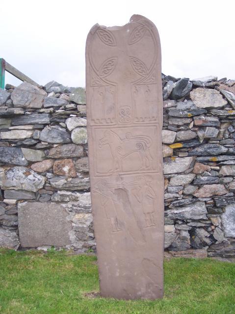 Copy of the Papil Stone, Papil, West Burra, Shetland