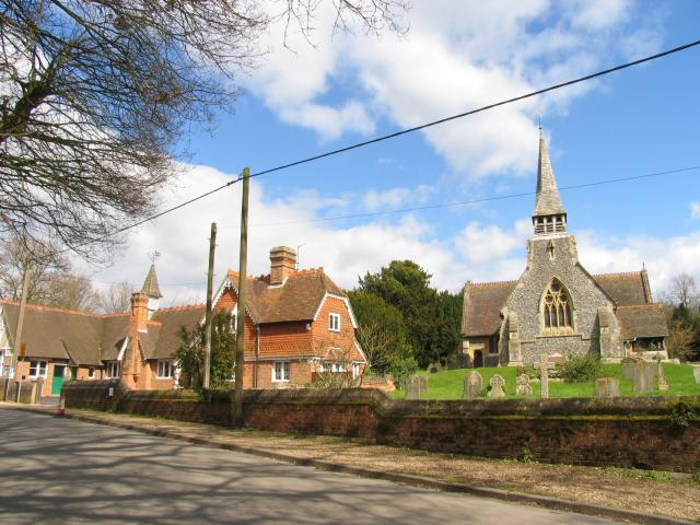 Upper Woolhampton: C of E Church and C of E School