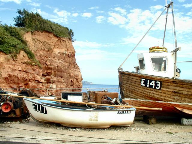 Boats at Sidmouth