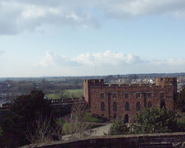 Shrewsbury Castle looking NW