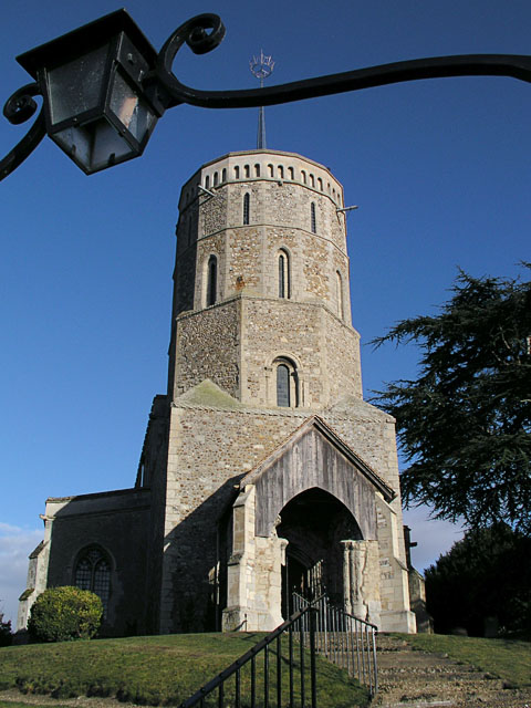 One of the two churches in one graveyard at Swaffham Prior