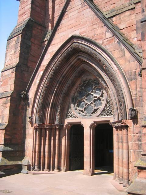 Carlisle Cathedral, main entrance