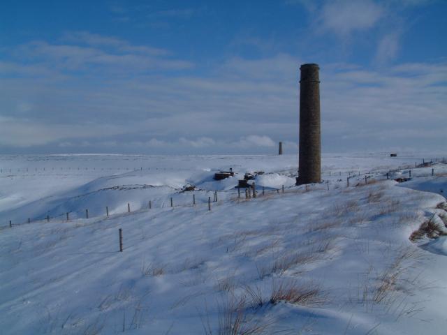 Chimneys at Sikehead lead mines