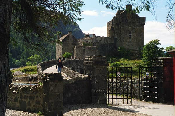 Close up of Eilean Donan Castle