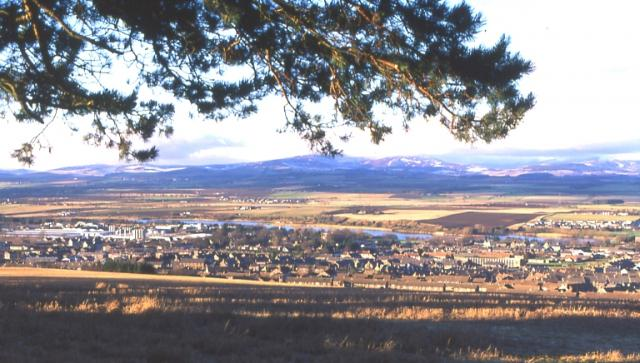 Forfar and Strathmore from Balmashanner  Hill