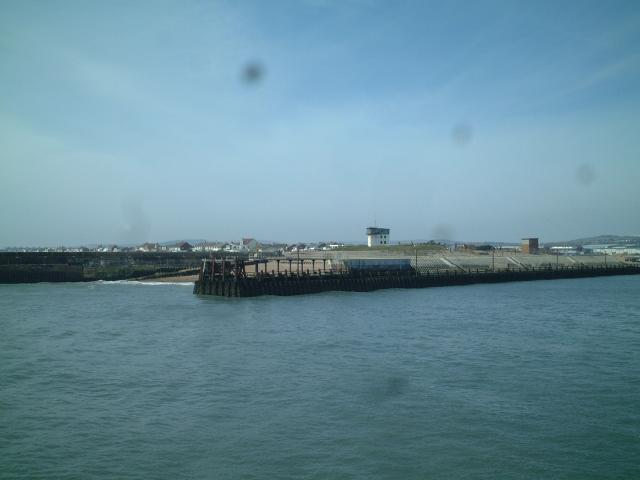 West Pier and Coastguard lookout, Shoreham Harbour