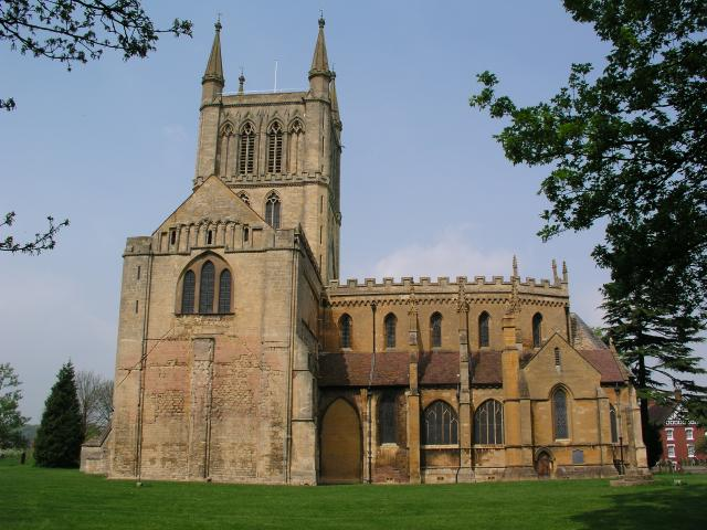 Pershore Abbey from the S