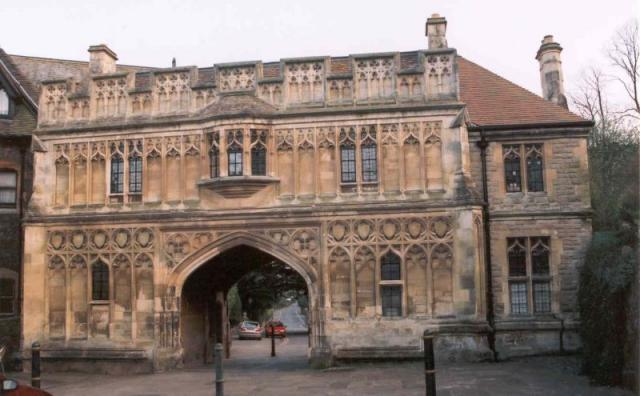 Malvern Priory gatehouse