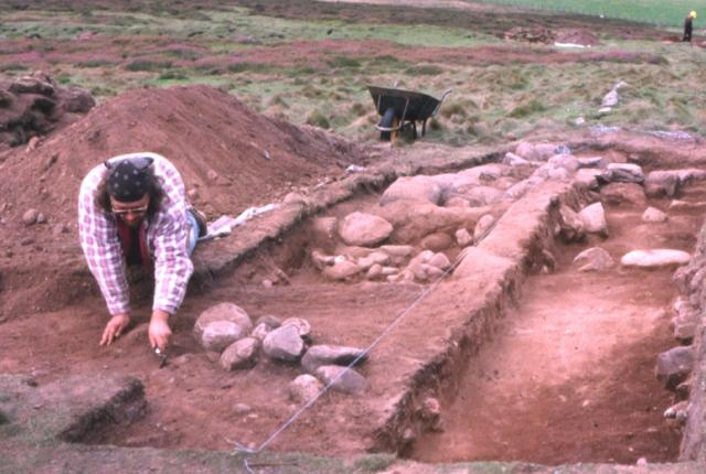 Archaeological dig on the Brown Caterthun