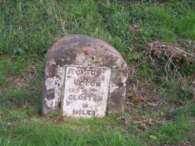 Milestone on the Upton to Gloster Turnpike