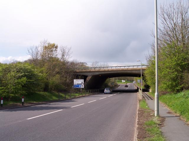 M50 Bridge over the A38 at M50 Junction 1