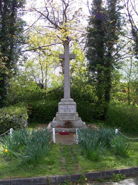 War Memorial, The Grove, Ryall