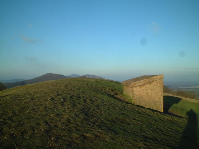 Memorial shelter on top of Midsummer Hill, The Malverns