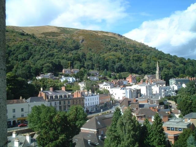Belle Vue Terrace, Malvern from the top of Priory Church
