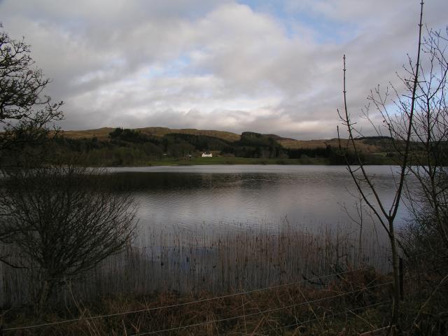 Looking across Loch Ederline