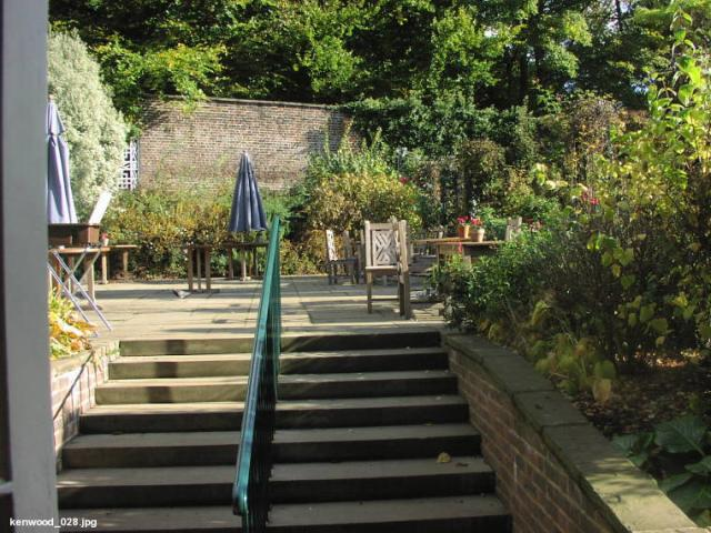 Cafe garden at Kenwood