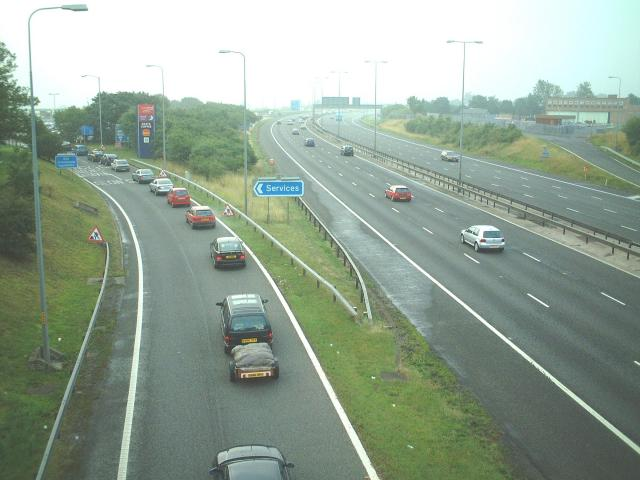 M5 Breakfast Queues for Strensham Services