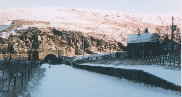 Woodhead station and tunnel