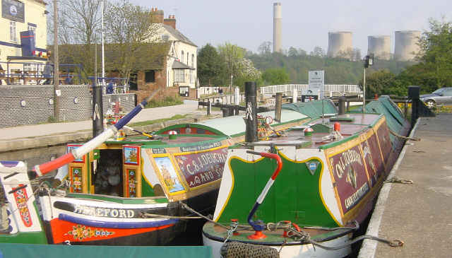 Narrowboats at Trent Lock
