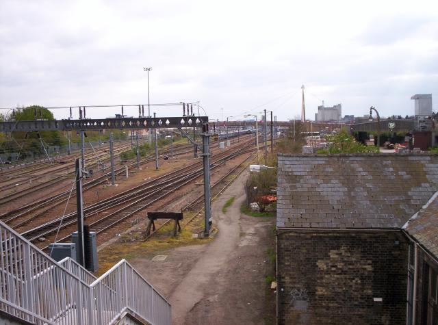 Railway sidings by Cambridge Station