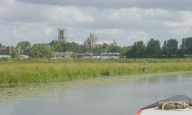 Ely Cathedral from River Great Ouse