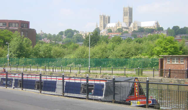 Lincoln Cathedral from River Witham