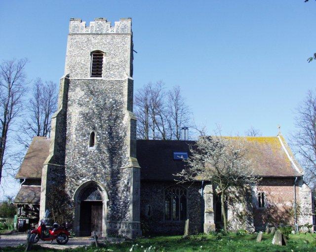 Rishangles church, now a private house