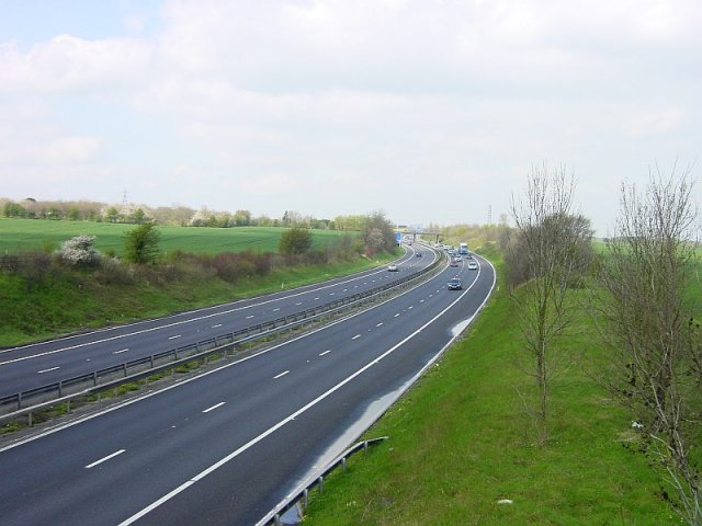 M2 between Wrens Road and Stiff Street