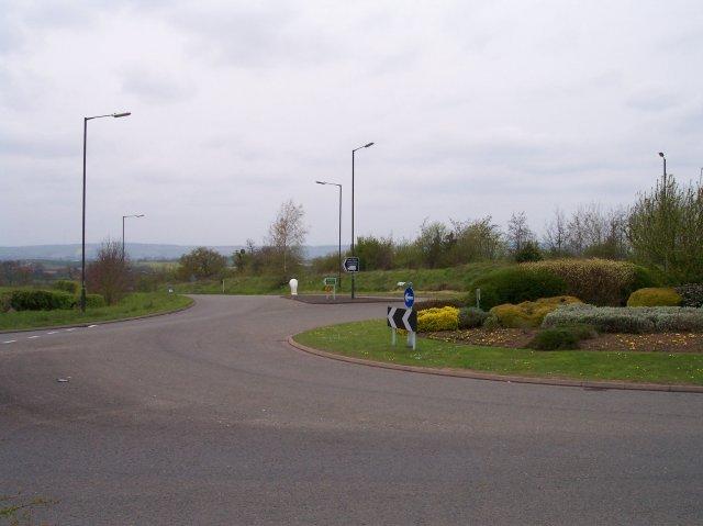 Ledbury bypass and roundabout.