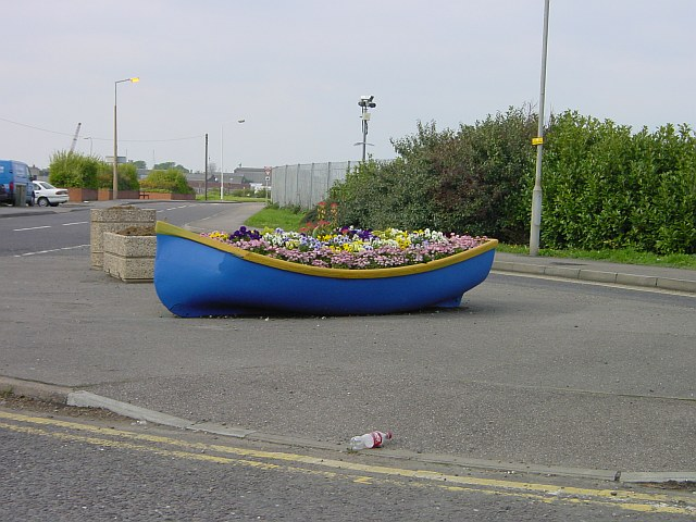 Boat full of flowers
