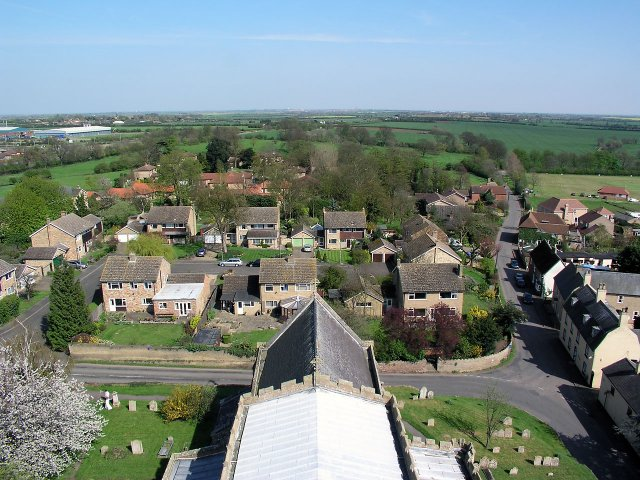 looking E from Sutton tower